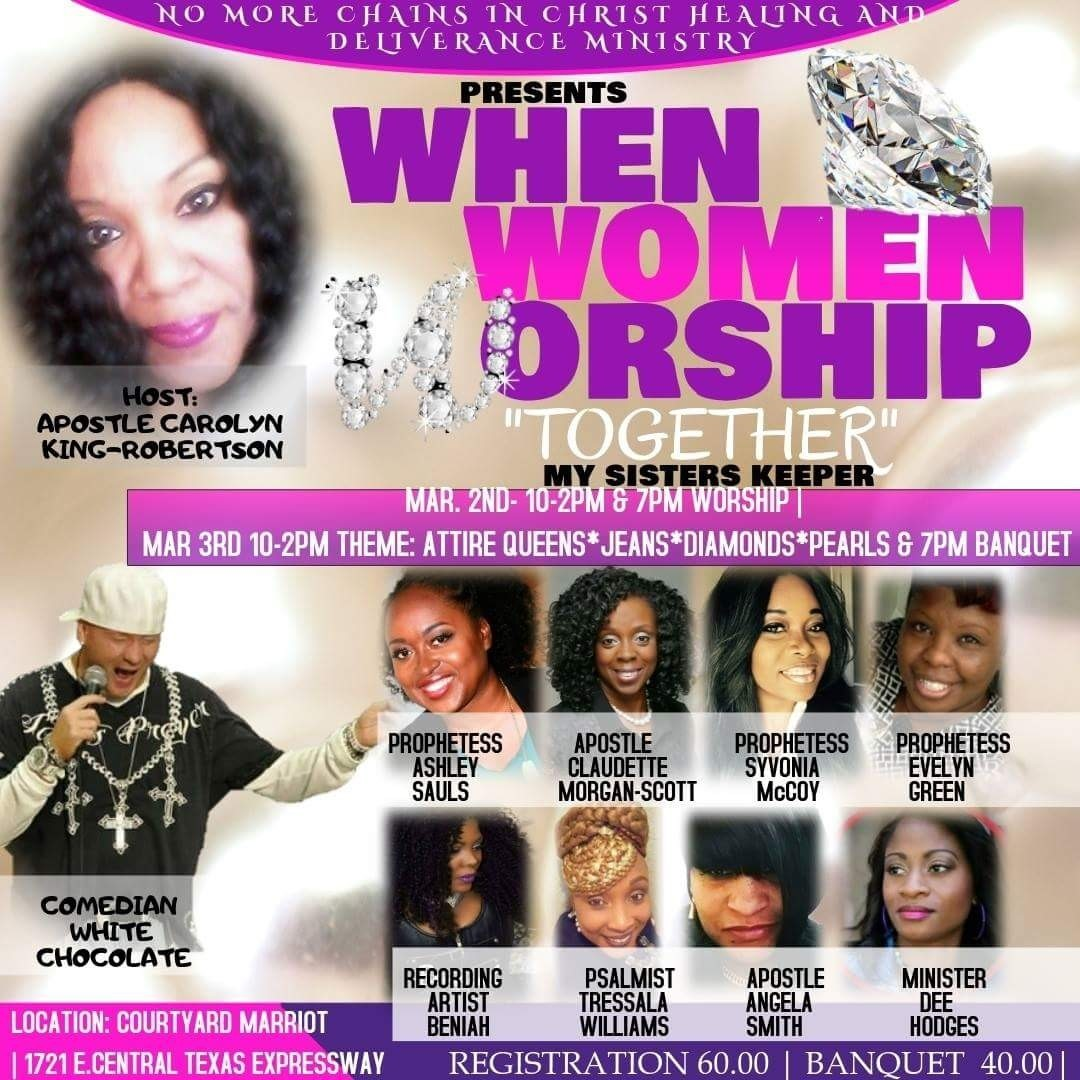 When Women Worship Together Conference, Banquet & Play